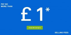 Sell for £1 Max Final Value Fee on Up to 100 Listings at eBay – from 11-Mar – 12-Mar