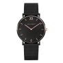 Watch Sailor Line Black Sunray IP Black / Rose Gold Mesh Strap IP Black £159.95 @ Paul Hewitt