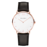 Watch Sailor Line White Sand IP Rose Gold Leather Watch Strap Black £149.95 @ Paul Hewitt