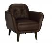 House by John Lewis Arlo Leather Armchair, Milan Dark Brown £339.00 @ John Lewis & Partners