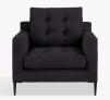 Draper Armchair, Dark Leg, Aquaclean Harriet Charcoal £799.00 @ John Lewis & Partners