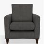 Bailey Armchair, Dark Leg, Fraser Steel £399 @ John Lewis & Partners