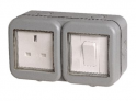 Masterplug 13A Single Exterior Unswitched Socket & Switch – Grey £8.99 @ Wickes