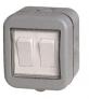 Masterplug IP55 10A Twin Exterior 2 Way Switch – Grey £7.99 @ Wickes