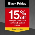 15% Off When You Spend £75 Using Voucher Code (Click & Collect) at Wickes