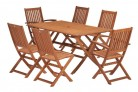 Wiltshire FSC Eucalyptus Wood 6 Seater Outdoor Dining Set with Rectangular Table £214.99
