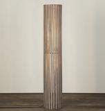 Helston Wooden Slatted Cylinder Floor Lamp, Grey   £116.00  at John Lewis & Partners