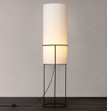 House by John Lewis Jed Floor Lamp, Black / White    £60.00  at John Lewis & Partners