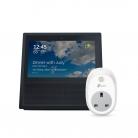 Amazon Echo Show, Black + TP-Link WiFi Smart Plug HS100 (2nd Generation) £109.99 at Amazon