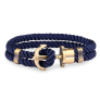 Anchor Bracelet PHREP Brass Nylon Navy Blue £29.95 @ Paul Hewitt
