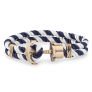 Anchor Bracelet PHREP Brass Nylon Navy Blue-White £29.95 @ Paul Hewitt