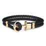 Anchor Bracelet PHREP IP Gold Black £49.95 @ Paul Hewitt