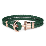 Anchor Bracelet PHREP IP Rose Gold Green £22.95 @ Paul Hewitt