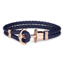 Anchor Bracelet PHREP IP Rose Gold Navy Blue £49.95 @ Paul Hewitt