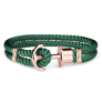 Anchor Bracelet PHREP IP Rose Gold Nylon Green £17.95 @ Paul Hewitt