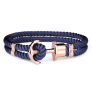 Anchor Bracelet PHREP IP Rose Gold Nylon Navy Blue £39.95 @ Paul Hewitt