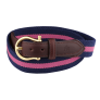 Belt Canvas fabrics Leather Navy Blue-Pink £20.00 @ Paul Hewitt