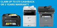 Get £100 Cashback or 3 Years Warranty on Selected Brother Products @ Staples