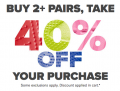 Buy 2 Pairs of Crocs and Take 40% Off + Free Delivery with Code at Crocs