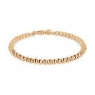 Sonnet 18ct Rose Gold 4mm Bead Bracelet £750.00 at Goldsmith