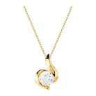 9 Carat Gold 0.15ct Wrapped In Love Diamond Pendant £300 at Goldsmiths