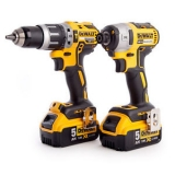 Dewalt DCK266P2T 18v XR G2 Brushless Combi Drill and Impact Driver Twin Pack with 2 Batteries £237.86 at eBay