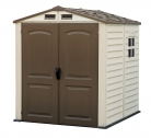 Duramax Premier Series Vinyl Storage Sheds with Shingle overlapped Roof & plastic Floor and a Fixed Window – StoreMate (6 x 6 ft) £299.99 at Amazon