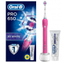 Oral B Pro 650 3D White Electric Toothbrush + Toothpaste 75ml  £24.98  at Superdrug