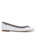 LEATHER BALLET PUMPS IN WHITE    £45.00 at Crew Clothing