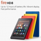 Fire HD 8 Tablet with Alexa, 8″ HD Display, 16 GB, Black Certified Refurbished £54.99 at Amazon