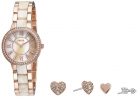 Fossil Virginia Three-Hand Stainless Steel Watch and Earring Set £74.99 at Amazon