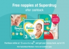 Free Nappies After Up to £15 Cashback at Superdrug with TopCashback