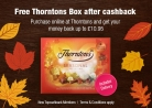 Free Thorntons Box After Cashback with TopCashback