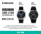 Samsung Gear S3 Classic & Frontier Smartwatch £249.95 (£100 OFF) at Argos