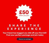 Get £50 Off Your First Bill at Virgin Media