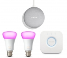 Get 2 x Philips Hue Colour Bulbs + Philips Hue Bridge + Google Home Mini for ONLY £99.99 at Argos