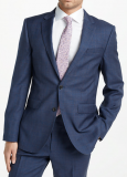 Wool Check Tailored Suit Jacket, Blue/Raspberry Now £42 at John Lewis & Partners