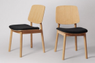 Wisteria Dining Chair, Set Of Two, Charcoal Wool  £224 at Swoon Editions