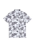 White Floral All Over Print Polo Shirt £5.00 at Burton