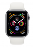Apple Watch Series 5 40mm (GPS+Cellular) Silver Aluminium Case with White Sport Band £20.00 on O2 Refresh Flex – Smartwatch @ O2