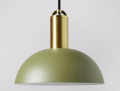 Alma Pendant, Brass & Green  £44  at Swoon Editions