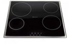 Hotpoint KSB640X 600mm 4 Zone Ceramic Hob in Black £149.90  at Hughes