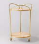 Rosa Bar Trolley, Pink Marble  £262 at Swoon Editions