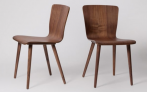 Cherry Dining Chair, Set Of Two, Walnut   £263  at Swoon Editions