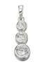 Sterling Silver & Cubic Zirconia Drop Pendant Necklace & Earrings Set   £44.99 at Littlewoods