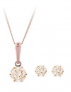 Love GOLD 9 Carat Rose Gold Zirconia Earrings and Pendant Set £43.00 at Littlewoods