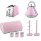 Kettle, Toaster, Bread Bin, Mug Tree & Kitchen Roll Holder Set – Pink £112.99 at eBay