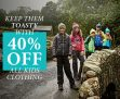 40% Off All Kids Products at Regatta Outlet
