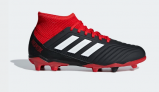 Adidas PREDATOR 18.3 FIRM GROUND BOOTS, Black/Red   £38.46 at Adidas