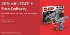 20% OFF LEGO + Free Delivery at eBay